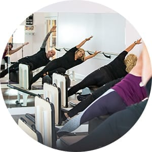 Pilates Reformer and Barre combo class