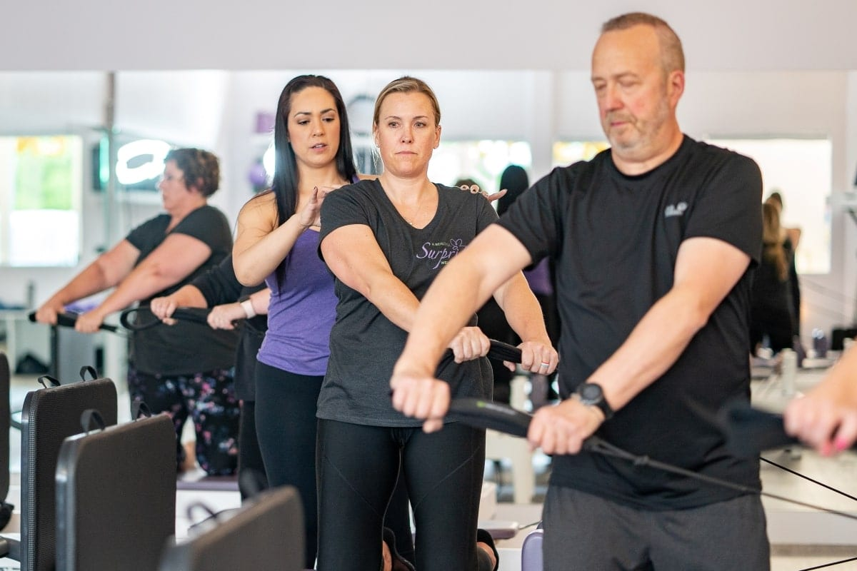 Pilates Group Reformer class